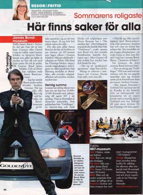 allas nr 27, 24 juni. Sommarens roligaste museum James Bond 007 Museum i Nybro