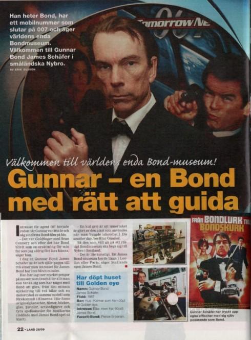 Gunnar - en Bond med rätt att guida.