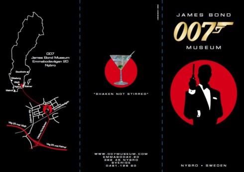 James Bond Museum folder