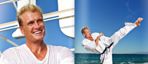 Action Hero and author of new book Fit Forever Dolph Lundgren sign new book at Bokus.