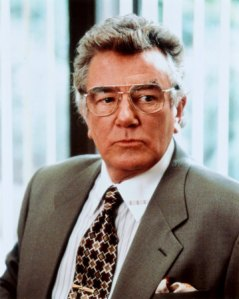 "Albert Finney as ""M"""
