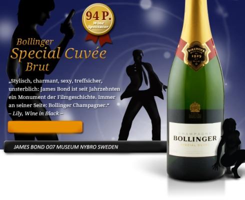 James Bond champagne och viner på systembolaget
