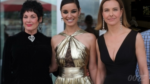 Three generations of Bond actresses appeared together at the Cannes Film Festival to mark Bond's 50th anniversary. Martine Beswick (Zora in FROM RUSSIA WITH LOVE and Paula in THUNDERBALL), Bérénice Marlohe (Severine in SKYFALL) and Carole Bouquet (Melina Havelock in FOR YOUR EYES ONLY). Check out our video of Bérénice and Martine on the red carpet.