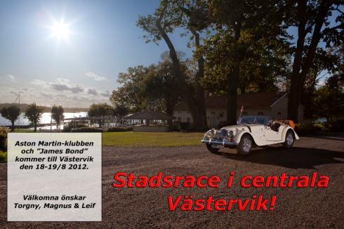 Aston Martin klubben och James Bond kommer till Västervik 19 augusti på Sportbilsdagen