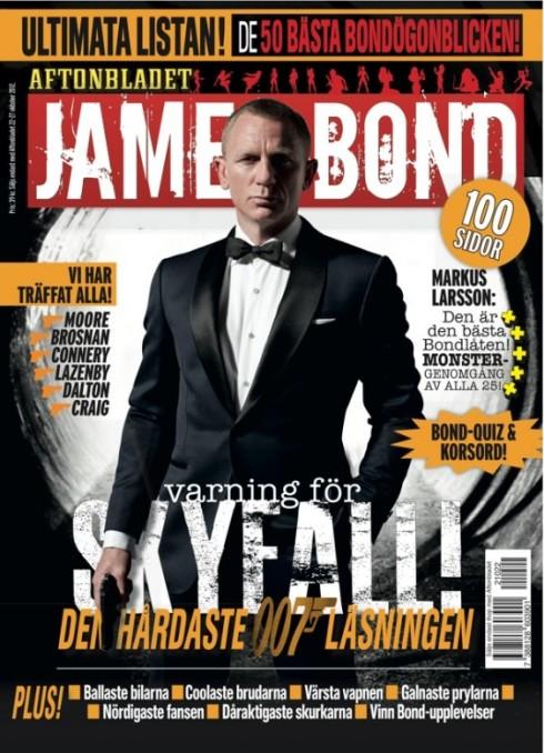 """James Bond firar 50 år och lagom till premiären av """"Skyfall"""" lanserar tidningen en 100 sidor tjock. Bondbibeln, James Bond 007 bilagan släpps 21 oktober"""