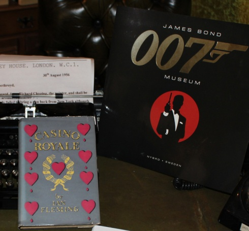 Casino Royale Ian Flemings first book first impression first print 1953 in The James Bond 007 Museum