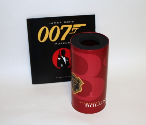 Bollinger Special Cuvee  Ice Tube in JAMES BOND 007 MUSEUM SWEDEN NYBRO