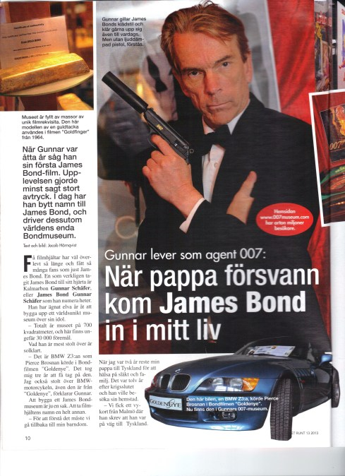 Året runt nr 13 med James Bond Gunnar Schäfer och James Bondmuseet