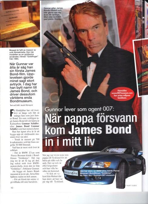 Året runt nr 13 med James Bond Gunnar Schäfer och James Bondmuseet