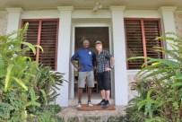 Ian Fleming's gardener, Mr Dacosta Ramsey,Jamaica. Here with Gunnar James Bond Schäfer