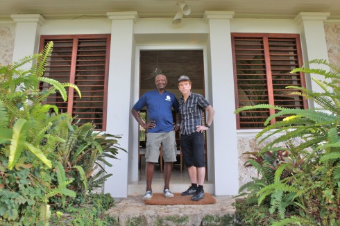 Ian Fleming's gardener, Mr Dacosta Ramsey,Jamaica. Here with Gunnar James Bond Schäfer