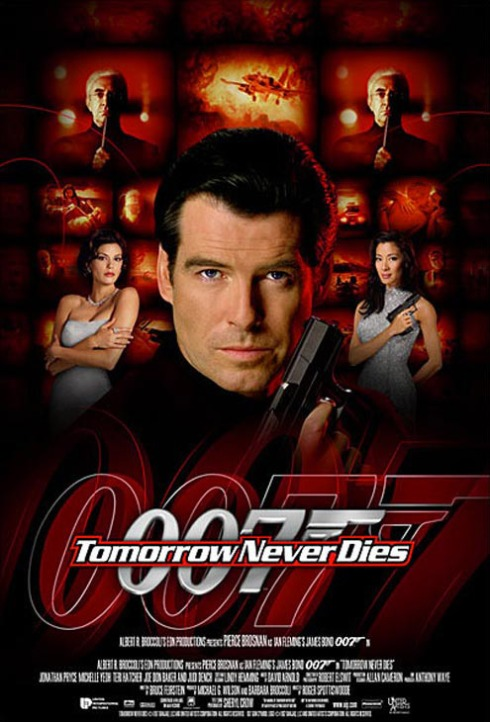 Tomorrow Never Dies (1997) is the eighteenth spy film in the James Bond series, and the second to star Pierce Brosnan as the fictional MI6 agent James Bond.