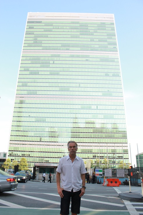 James Bond in United Nations Plaza, New York, NY