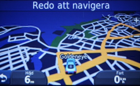 Goldeneye house Kalmar Sweden Garmin GPS on Map