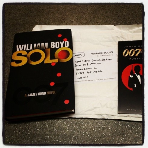 "Many thanks to Vintage Books for the bre review book ""SOLO"" from  James Bond Museum Sweden Nybro"