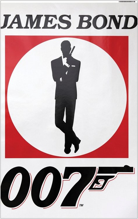007 Logo James Bond Banderoll Vinyl 120x76 cm